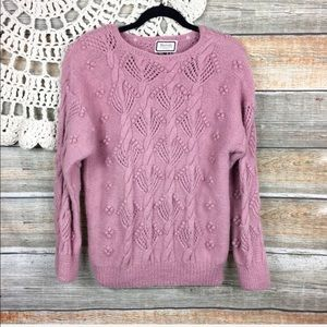 Vintage   Alpaca Bobble Chunky Cable Knit Sweater